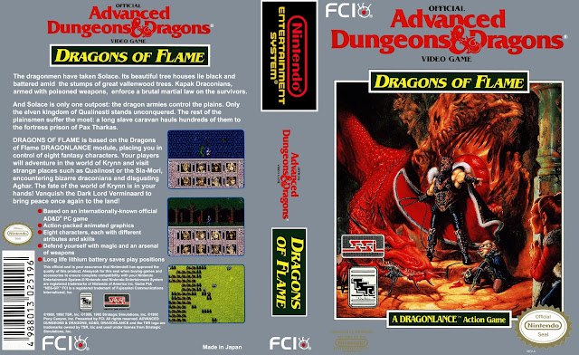 Capa Advanced Dungeons & Dragons Dragons of Flame NES