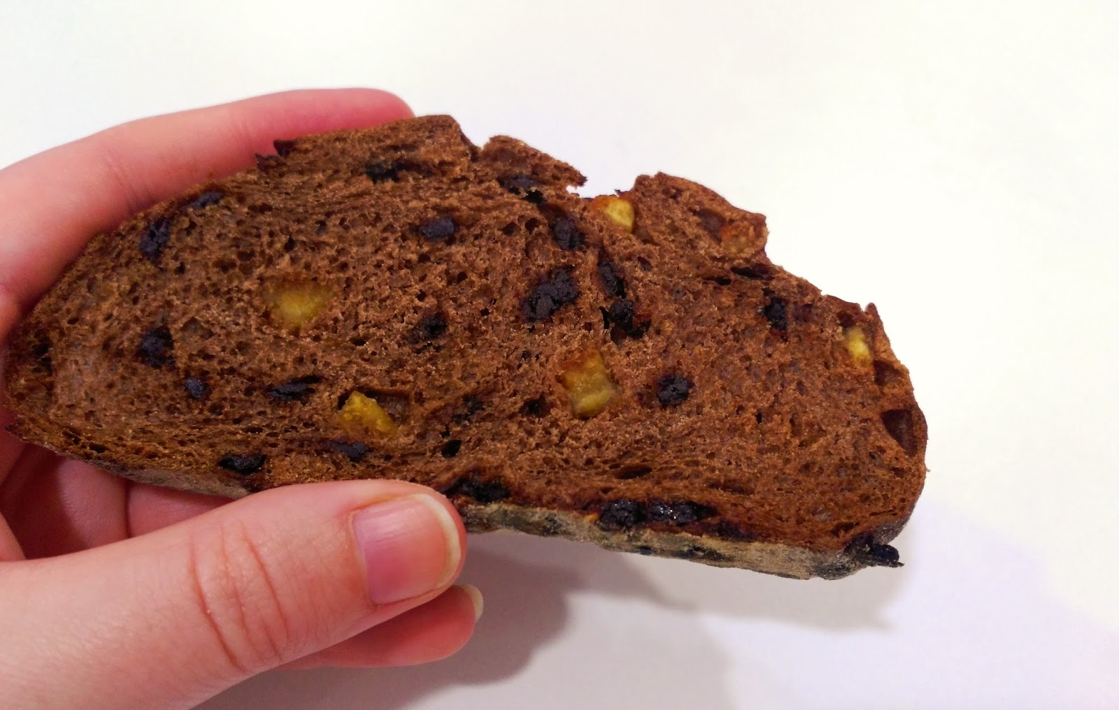 Pan de chocolate y naranja