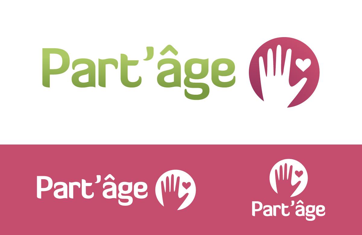 Création logo Part'âge, association d'aide aux personnes âgées