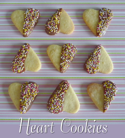 Making Heart Shaped Cookies for a Valentine Treat