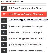 Cara Memasang Komentar Terpopuler (Most Commented) di Sidebar Blog