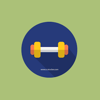 dumbbells flat icon