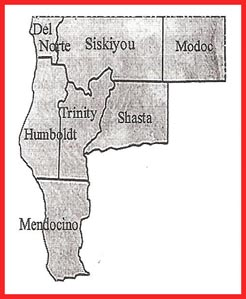 Chinese Del Norte, Siskiyou, Modoc, Humboldt, Trinity, Shasta, Mendocino,