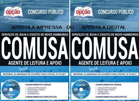 Apostila Agente de Leitura e Apoio COMUSA [grátis CD]