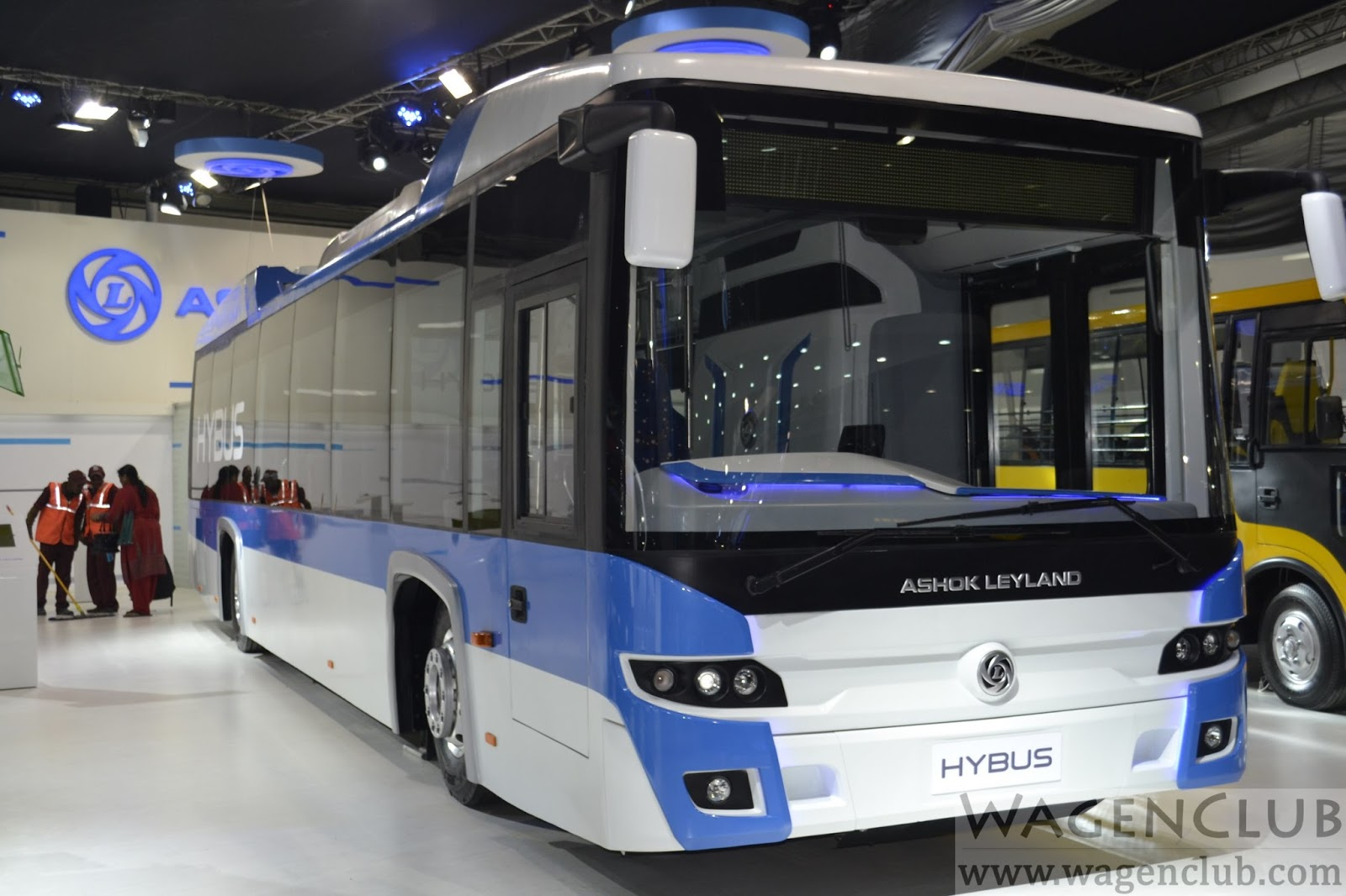 ashok leyland hybus hybrid bus 2016 auto expo wagenclub. Black Bedroom Furniture Sets. Home Design Ideas