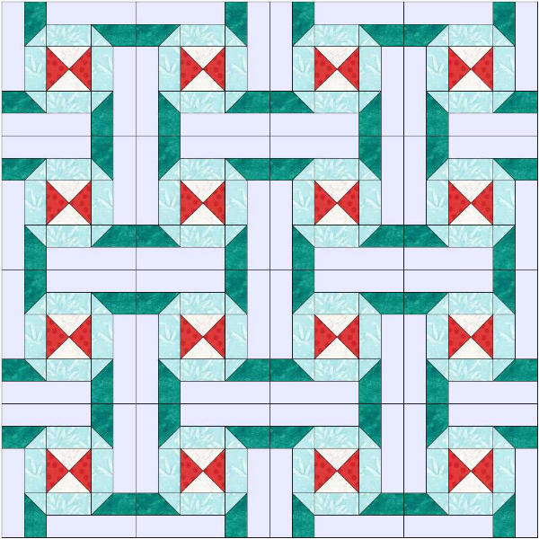 Connections Quilt Layout | DevotedQuilter.blogspot.com