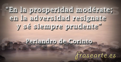 Frases de Periandro de Corinto
