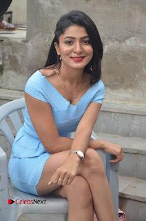 Actress Ankitha Jadhav Pictures in Blue Short Dress at Cottage Craft Mela  0024.jpg