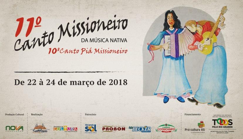 Inicia hoje o 11º Canto Missioneiro e 10º Canto Piá Missioneiro