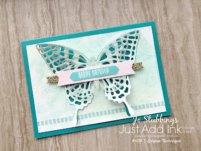 Jo's Stamping Spot - Just Add Ink #409 using Butterflies Thinlits Dies by Stampin Up!