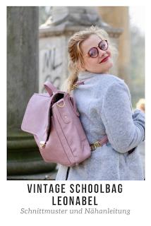 Leonabel, eine Tasche im Stil einer klassischen Schultasche und doch mit mehr Möglichkeiten: Nähe dir mit dem Schnittmuster Vintage Schoolbag Leonabel eine Fahrradtasche, Einen Ranzen oder eine messengerbag. Du kannst auch eine 3-in-1 version nähen, zum Umhängen, als Rucksack und für das Fahrrad. Eine Unisex Aktentasche mit Platz für Laptop oder Aktenordner.