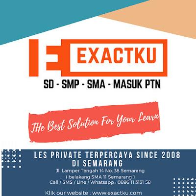 Lowongan Kerja Semarang Terbaru Hari ini Kami dari Bimbel Exactku yang bergerak dibidang jasa les privat dan semi-privat terpercaya sejak 2008, saat ini sedang membutuhkan banyak Tenaga Pengajar untuk jenjang SD - SMP - SMA - SBMPTN