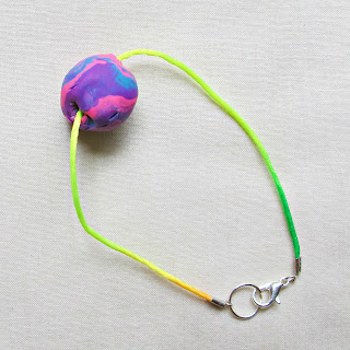 image tutorial diy polymer clay feature bead friendship bracelet rattail cord two cheeky monkeys
