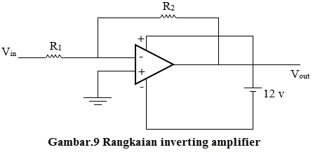 rangkaian inverting amplifier