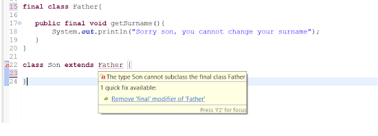 Can we make a class final in Java?