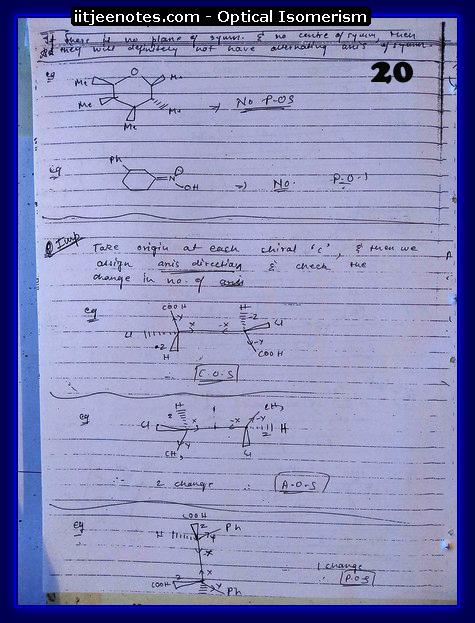 Optical Isomerism Notes 3