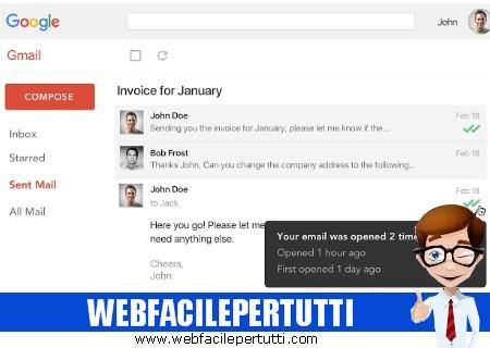 MailTrack | Estensione per Chrome per sapere se e quando il destinatario ha letto il messaggio