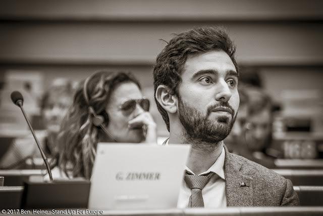 Pietro De Matteis -  Stand Up For Europe - Parlement européen - Photo by Ben Heine