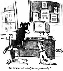ilustración ordenador perro imagen