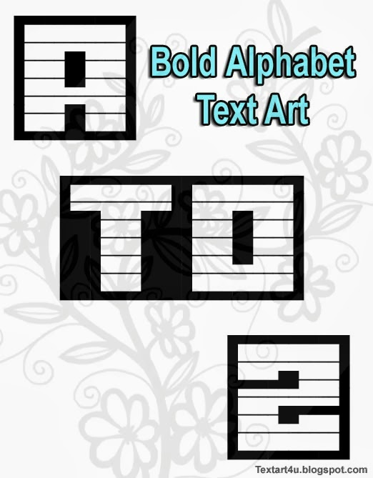 Bold Alphabet | A to Z | Copy Paste Text Art | Cool ASCII