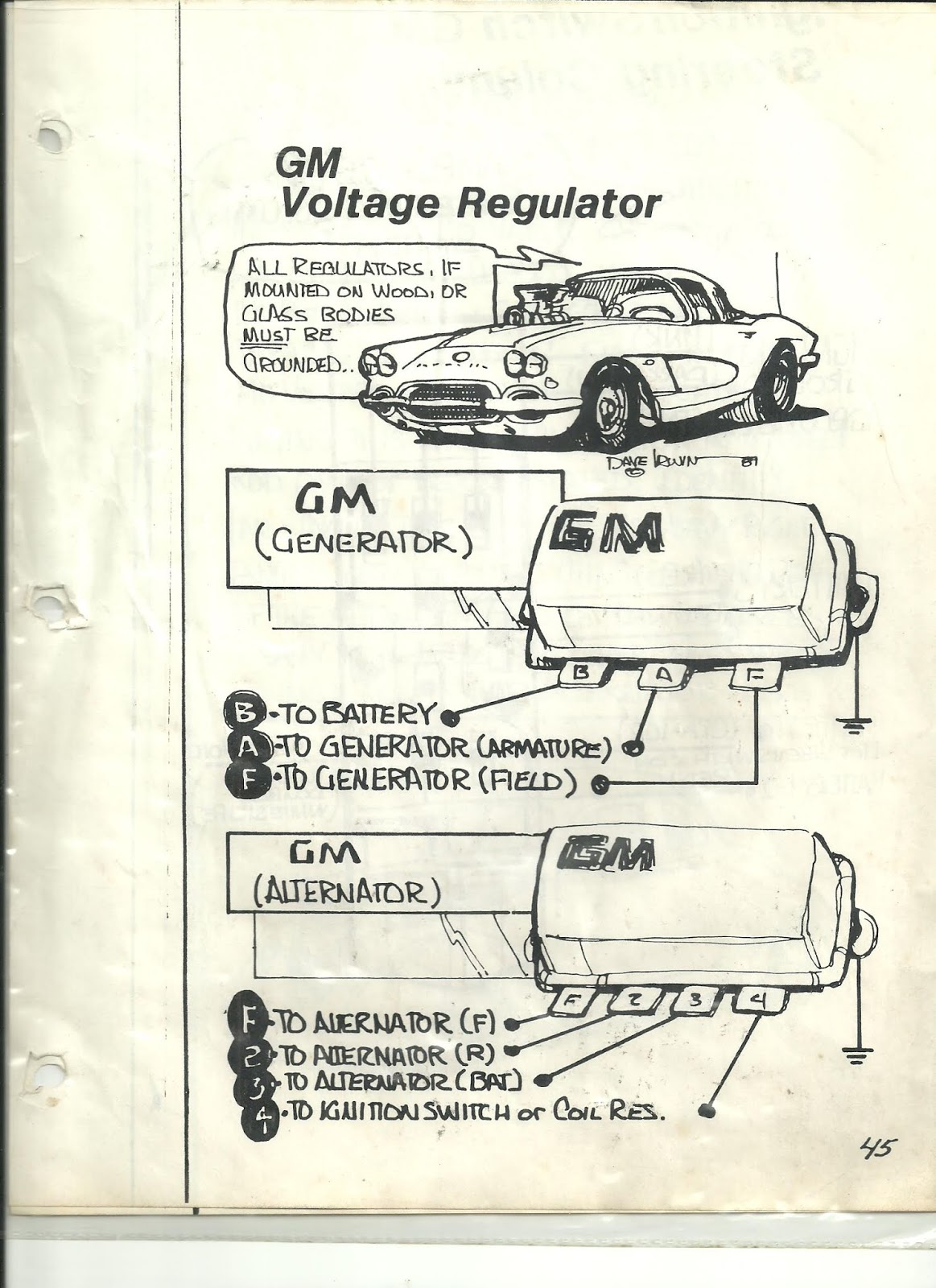 Rebel Wire Look Wiring Diagrams Gm Alternator Diagram External Regulator 60s 2 Speed Wiper Generator And