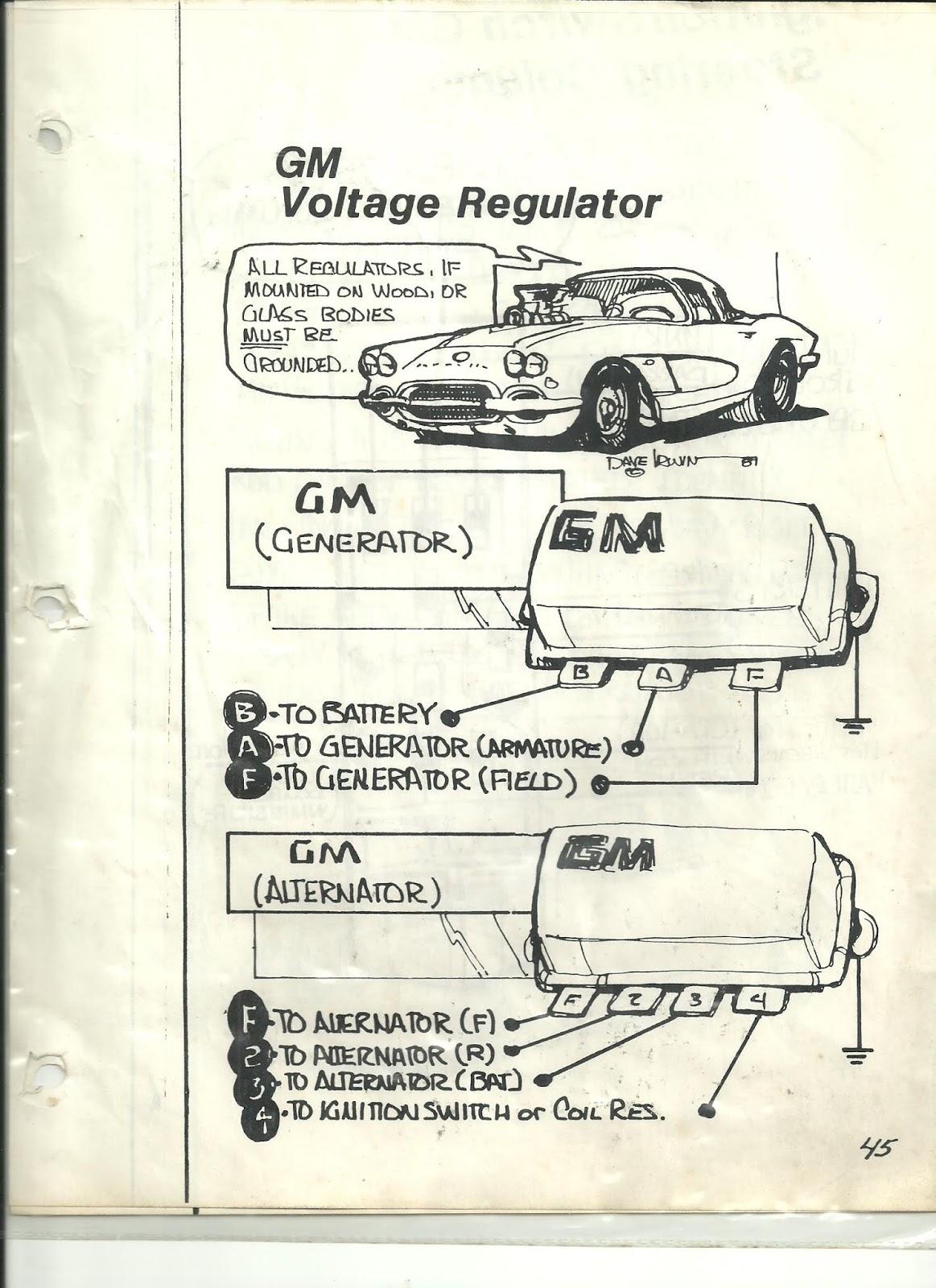 60 s gm alternator generator and regulator wiring [ 1163 x 1600 Pixel ]