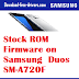 Stock ROM Firmware on Samsung  Duos SM-A720F