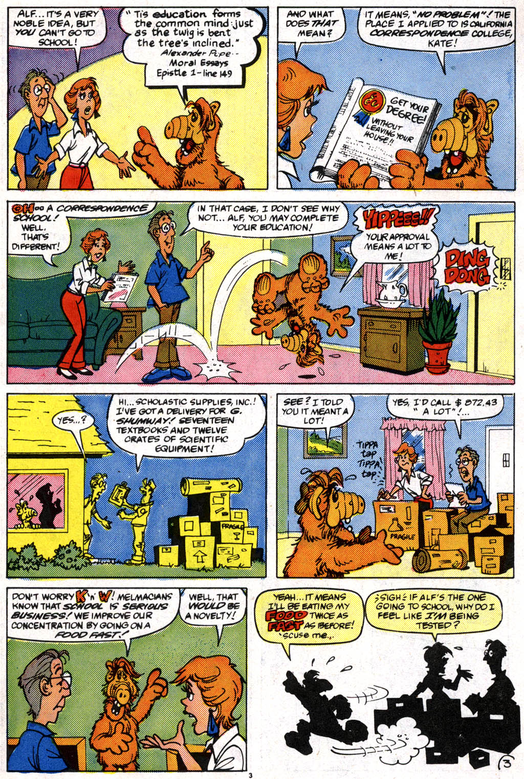 Read online ALF comic -  Issue #10 - 4