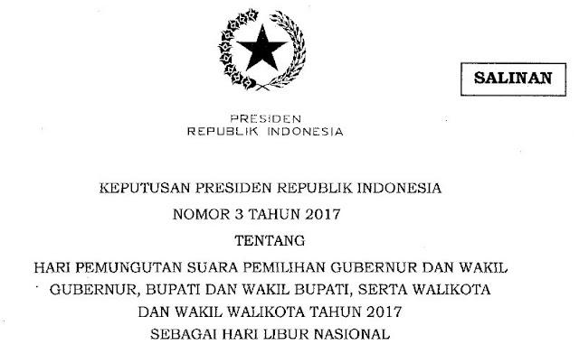 Surat Edaran Hari Libur Nasional 15 Februari 2017