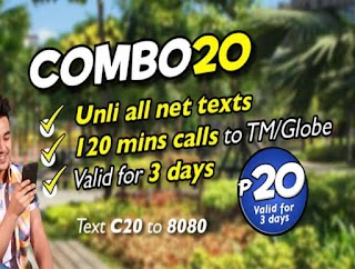 TM offers C20 or COMBO20 – Unlitext to All Networks for 3 Days