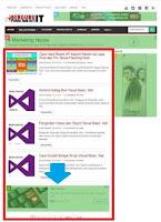 Contoh Iklan In Feed ads di home page berguruit.com