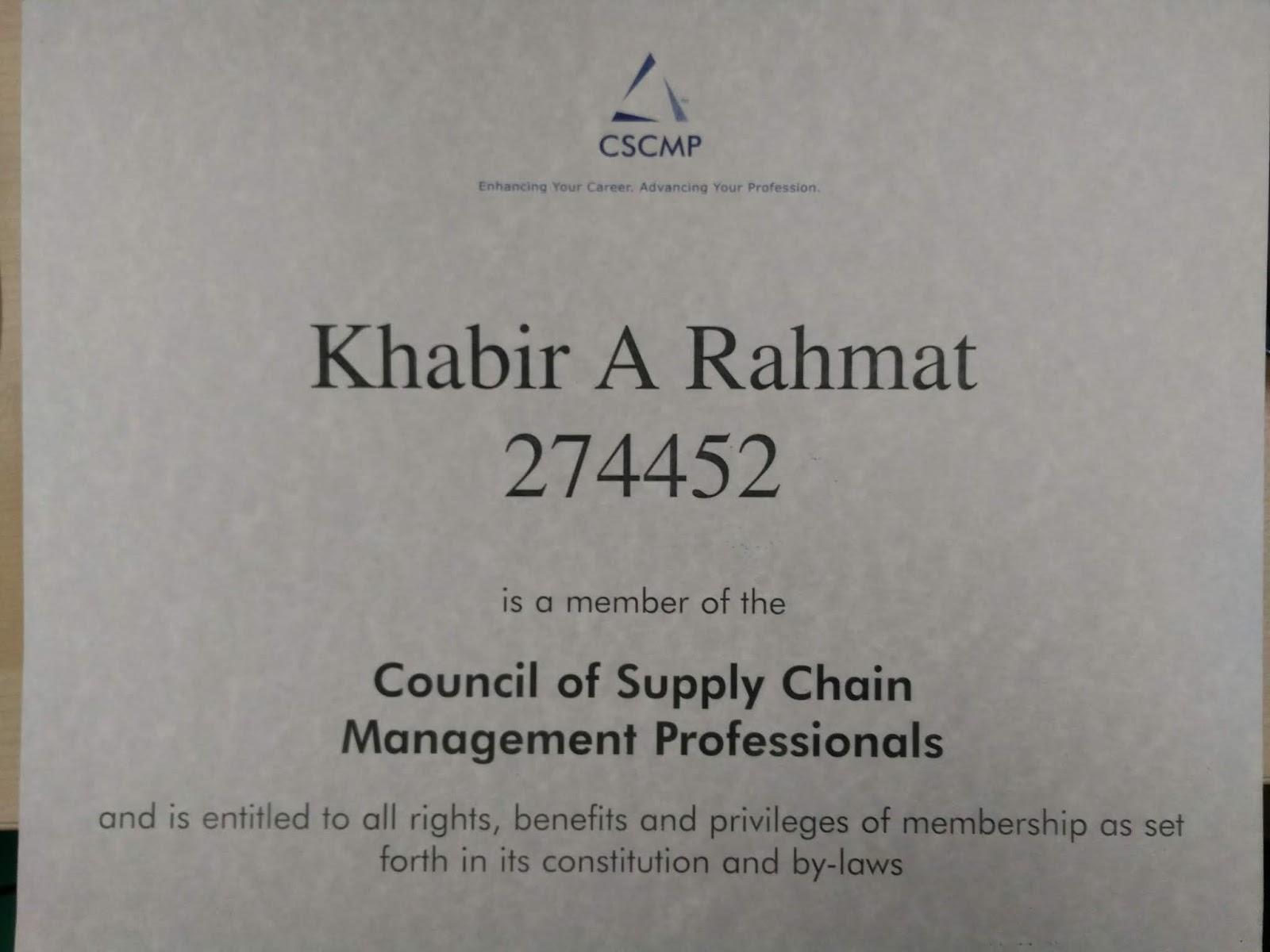 Abdul Khabir Rahmat Professional Membership Council Of Supply