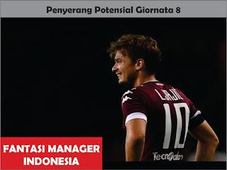 Penyerang Potensial Giornata 8 Liga Fantasia Serie A  Fantasi Manager Indonesia