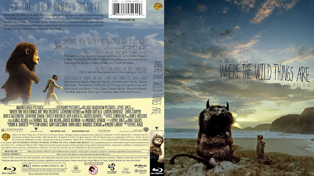 Where The Wild Things Are Bluray Cover