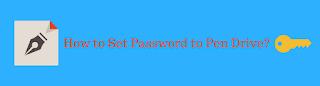 set password on flash drive