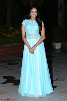 Pujita Ponnada in transparent sky blue dress at Darshakudu pre release ~  Exclusive Celebrities Galleries 121.JPG