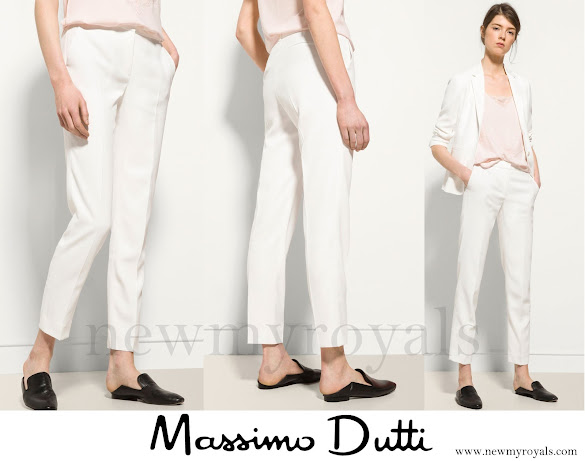 Queen Leti zia wore Massimo Dutti Trousers