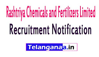 Rashtriya Chemicals and Fertilizers LimitedRCFL Recruitment Notification 2017