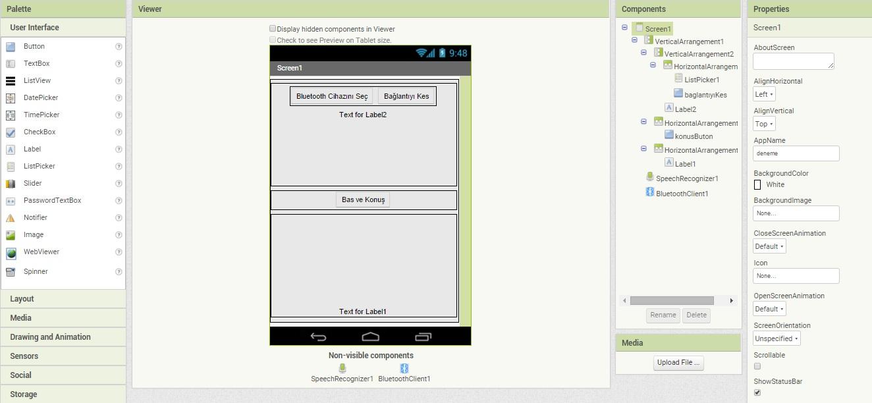 Arduino android bluetooth Üzerinden sesli komutlarla