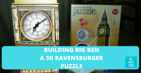 Building Big Ben - a 3D Ravensburger Puzzle (REVIEW)