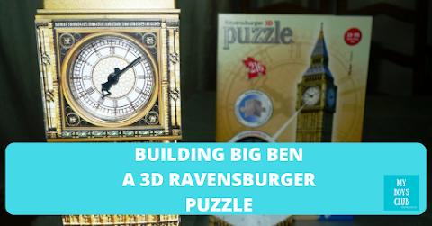 Building Big Ben - a 3D Ravensburger Puzzle (REVIEW)