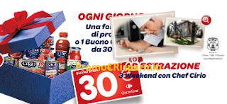 Logo Concorso Vinci Cirio : in palio forniture, buoni spesa e weekend