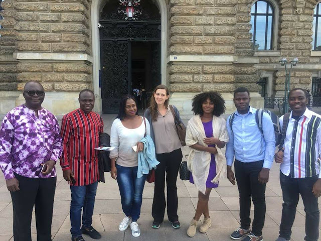 Media Team From Ghana And Germany At Africa Day 2018 - Wandsbeker, Hamburg - Germany.
