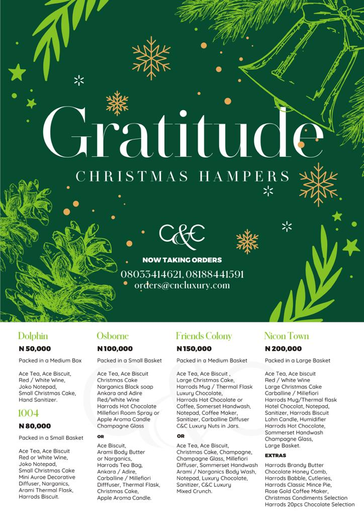 Gratitude Christmas hampers