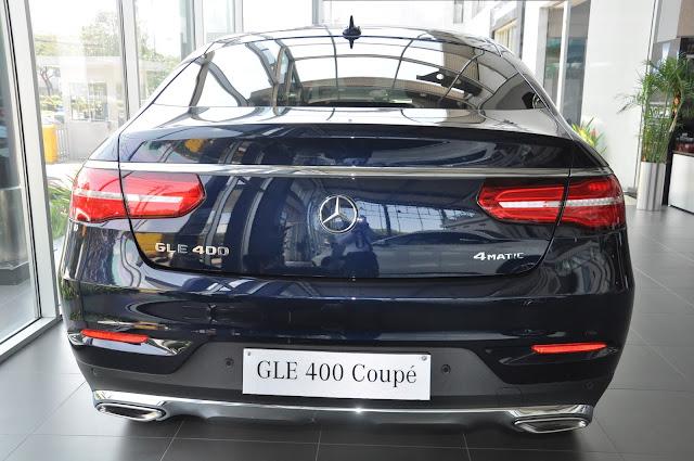 Mercedes GLE 400 4MATIC Coupe sử dụng Đèn xe công nghệ Led, ống xả kép
