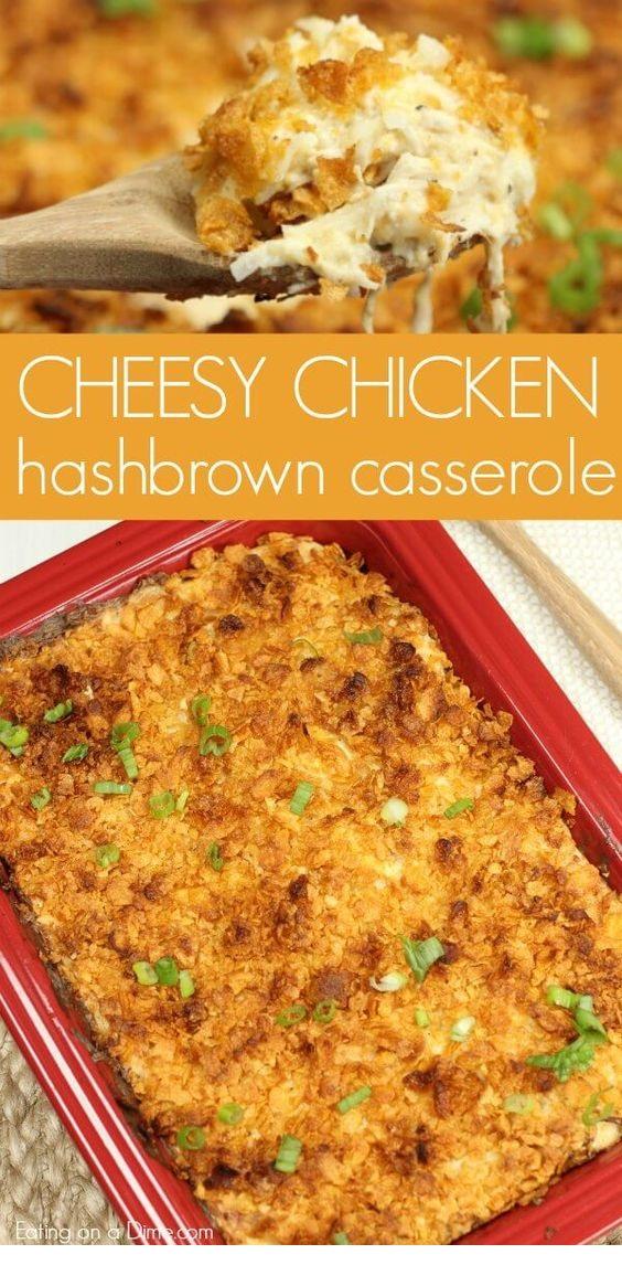 Easy Chicken Hashbrown Casserole Recipe