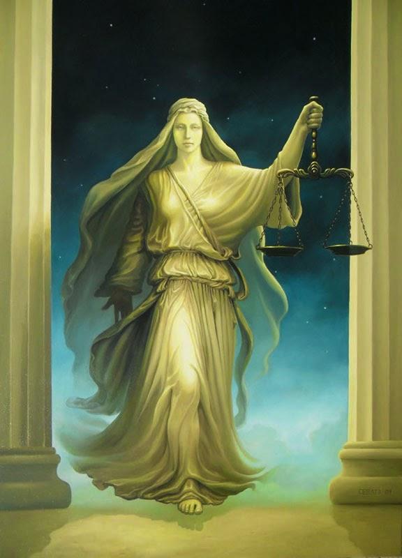 Justiça Divina - Ileana Cerato e seu surrealismo nostálgico ~ Pintor argentino