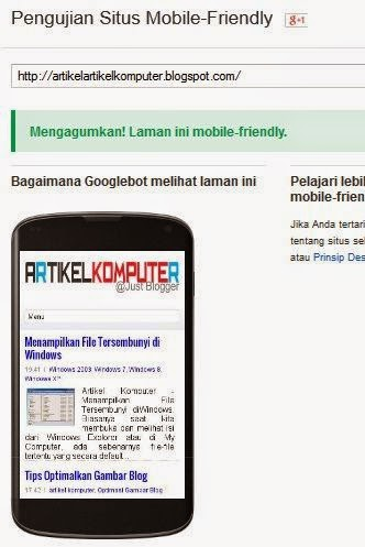 Cara Menguji Blog Mobile Friendly