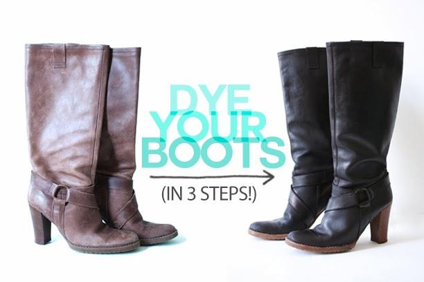 dye, teñir, zapatos, botas, transformar, diys, manualidades