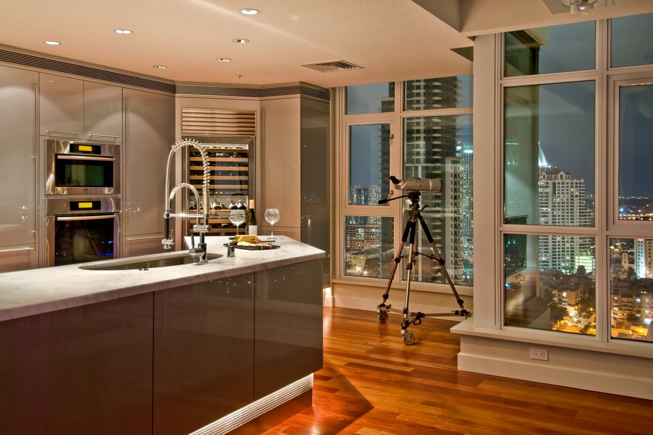 Interior Design Kitchen Dishes Wallpapers Background Decoration Of